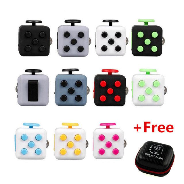 Fidget Cubo Cubo Stress Apaziguador Squeeze Fun Presente Juguet Alivia A Ansiedade Para Adultos Crianças Enigma & Spin Brinquedo De Mesa Mágica