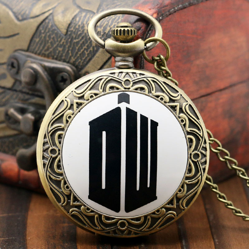 So Hot Doctor Who Design Pendant Necklace Pocket Watch Best Birthday New Year Gift