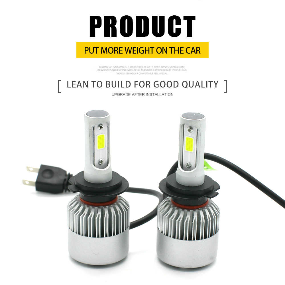 JGAUT Wholesale 50 Pairs Shipping by DHL EMS S2 H7 Led H4 Car Headlights Light Bulbs H1 H3 H9 H11 9005 9006 Automobiles Headlamp