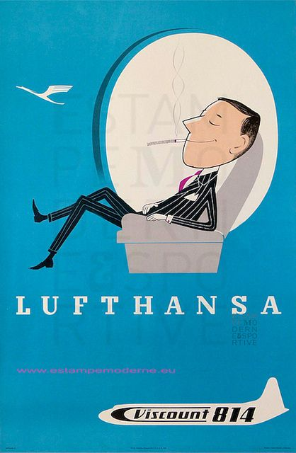 Lufthansa Viscount Germany Travel Ad Beauty View German Retro Vintage Poster Canvas Painting Wall Art Home Posters Decor In Stickers From Garden