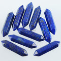 Free shipping Natural Lapis Lazuli Gem Stone Hexagonal Healing Pointed Reiki Chakra No Drilling Hole Pendant Bead 1 Pcs TN1253
