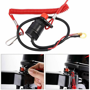 Image 3 - Motor Cut Off Outboard Practical Lanyard Stop Switch Tether Safety Professional Boat Emergency Kill Accessories Button