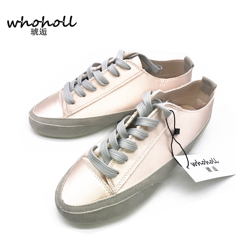 Women flat shoes Casual Leather Shoes For Women outdoor walking summer spring shoes flat white shoes all-match students female pearl white canvas shoes shoes white shoes all match flat flat with lace shoes in autumn korean students