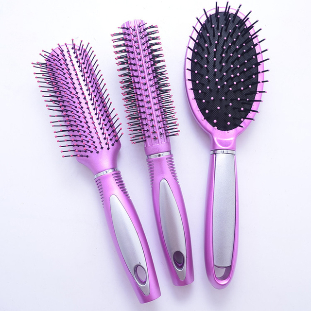 3 Pcs Set Professional Hair Brush Salon Styling Barbers Combs For Mage Barrel Drying