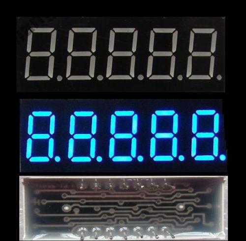 1 sztuk 0.36 cal 5 wyświetlacz cyfrowy led 7 obsługi seg segmentu wspólna katoda niebieski anodized    - AliExpress