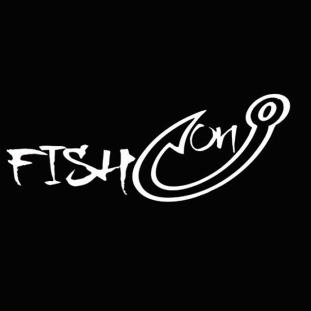 Popular fish on hook vinyl car truck boat water hunting decal sticker window