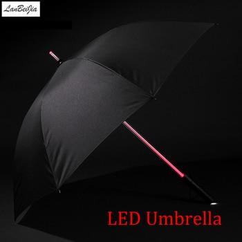 7 Renkler Led Star Wars şemsiye Golf şemsiye Yağmur Erkek Kadın Işık