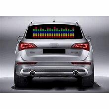 DUU 90*25 ซม. สติกเกอร์รถยนต์จังหวะเพลงไฟ led รถ Rhythm Flash Lamp เสียงเปิดใช้งาน Equalizer สีแดงสีเหลืองสีฟ้าสีเขียว