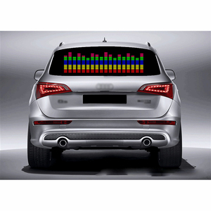 Image 1 - DUU 90*25cm Car Sticker Music Rhythm LED Light Car Rhythm Flash Lamp Sound Activated Equalizer Red with Yellow Blue Green