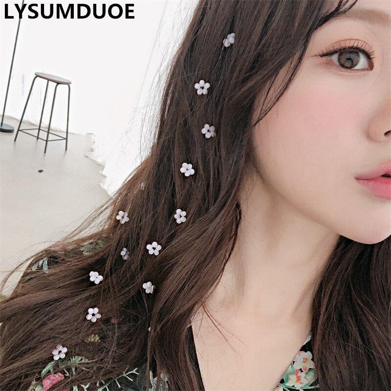 1Pcs Korean Fashion Women Wedding Pearl Headdress Summer Invisible Hair Comb Flower Headband Hair Clip Girls Hair Accessories