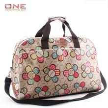 2016 style Coréen de mode femmes voyage sacs grande capacité femmes bagages voyage sacs fleur imprimer duffle sacs PT741