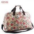 2016 estilo Coreano de la manera de las mujeres bolsas de viaje de gran capacidad de la mujer estampado de flores bolsas de bolsas de lona del viaje del equipaje PT741