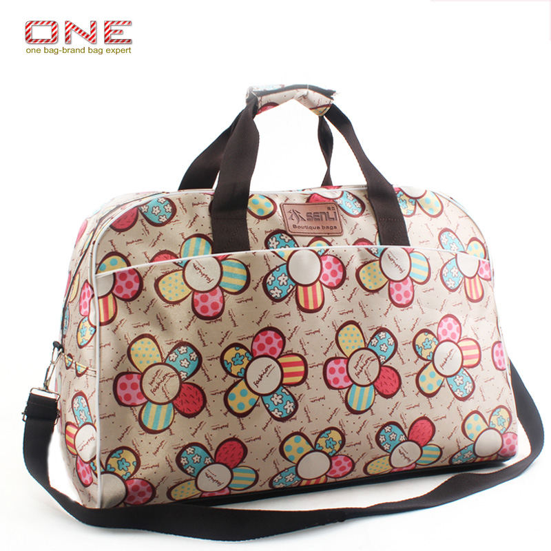 2018 Korean Style Fashion Women Travel Bags Large Capacity Women Luggage Travel Bags Flower Print Duffle Bags PT741