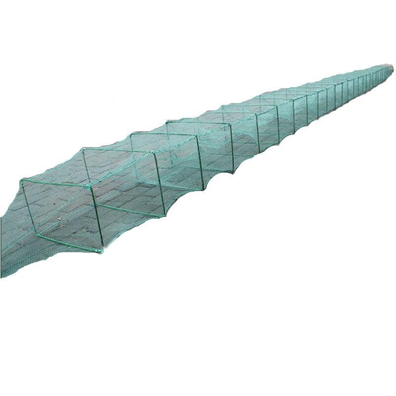 9 m-15 m cage de pêche crevette cage écrevisse cage réseau de pêche rouge de pesca extérieur filet pêche outil poisson piège rede pesca nylon