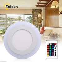 TSLEEN Modern Ceiling Light With Remote Control RGB LED Lamp 220V Dimmable Lamps For Living Room