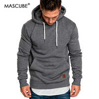 2019 New Autumn Winter Fashion Color Hoody Male Large Size Warm Fleece Coat Men Brand Sweaters Hooded Sweat Shirts pull homme