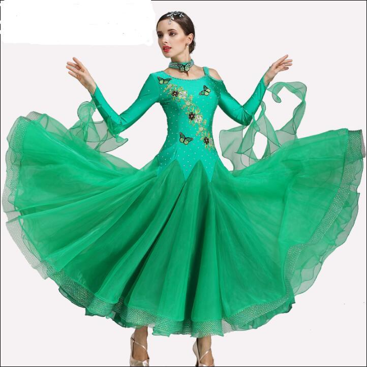 Livraison gratuite costume de danse moderne robes de danse de salon chinois moderne robe de patinage sur glace de mode
