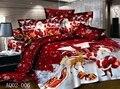 Hombre de la navidad juego de cama 3/4 unids suministro al por mayor Feliz año nuevo estilo europeo 100% algodón funda de almohada funda nórdica hoja de cama