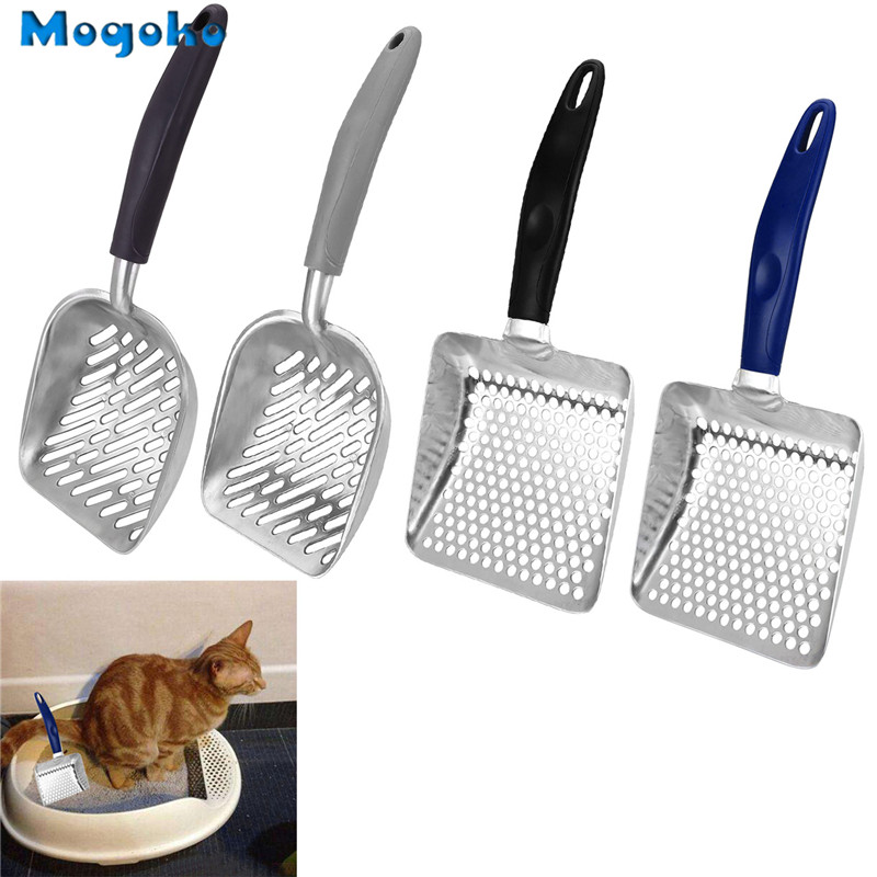 Mogoko 1pc New Metal Useful Cat Litter Sand Shovel Pet Shit Artifact Dogs Waste Stainless Steel Metal Shovel Cleaning Scoop Tool