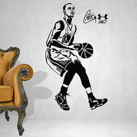 Basketball star Stephen curry sports wall stickers Vinyl wall art wallpaper Home decoration mural
