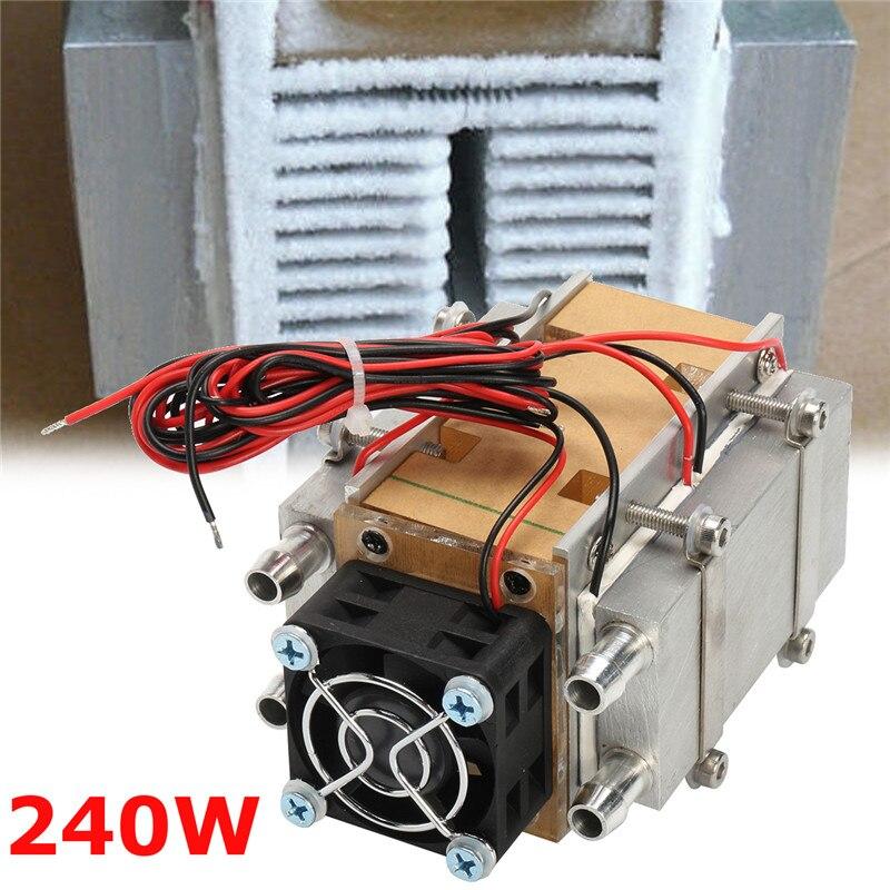 1 Pc 240 W semi-conducteur unité de réfrigération climatisation Machine noyau refroidi à l'eau dispositif voiture Micro Air refroidissement climatiseur outils