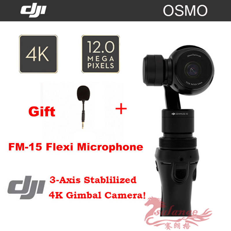 100% New Original DJI OSMO Handheld 3-Axis Gimbal and 4K HD ZENMUSE X3 Camera Set Gift DJI FM-15 Flexi Microphone DHL EMS Free