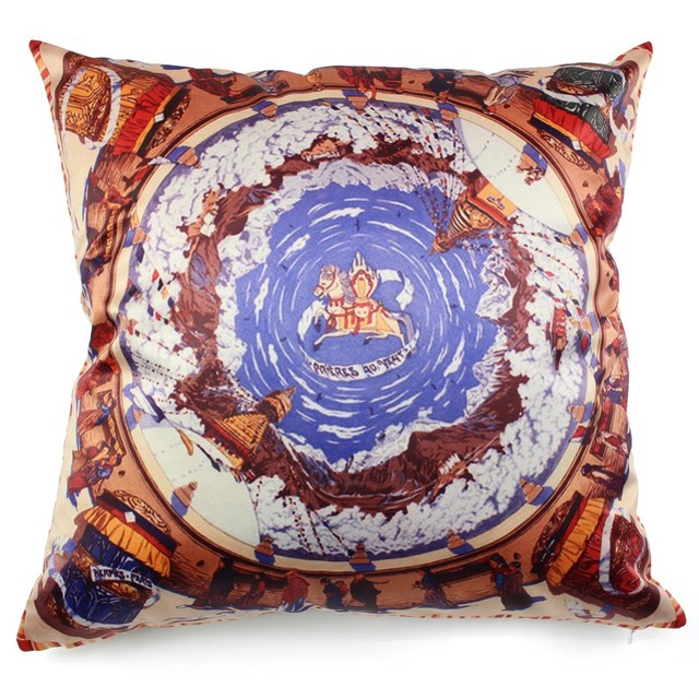 Hot Silk Like Throw Pillows Cushion Without Inner For Home Luxurious Decorative