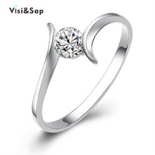 Eleple Elegant Clear CZ ring engagement wedding Rings for women vintage jewelry bague luxury fashion Shopify VSR030