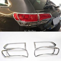 ABS Chrome Tail Light Bezels (4 Pieces Kit) FOR Jeep Grand Cherokee 2014 2015