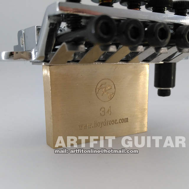 US $61 0 |Floyd Rose 6 string brass block FRTS1000 42mm nut electric guitar  tremolo bridge for ST PRS Suhr electric guitars well-in Guitar Parts &