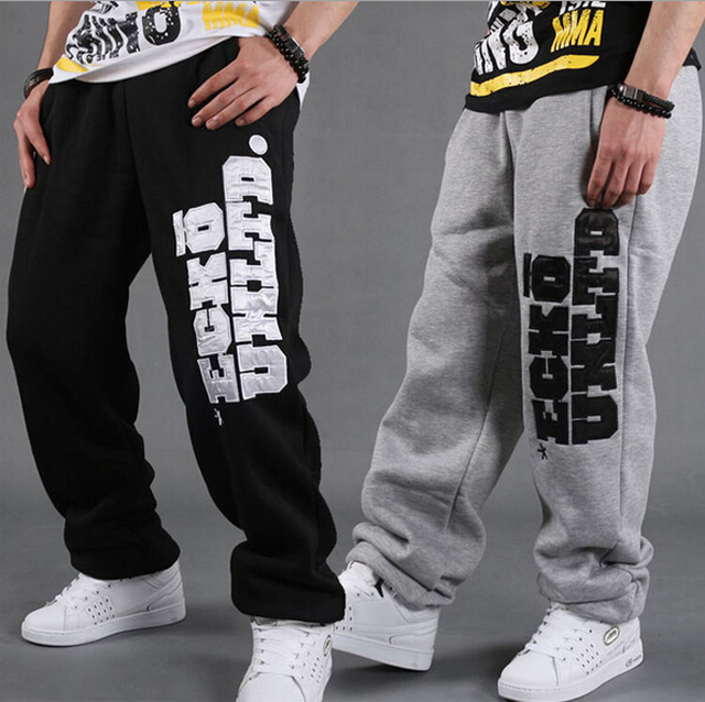 2017 мужская hip hop свободные брюки скейтборд танец тренировочные брюки для мужчин Полная Длина Брюки