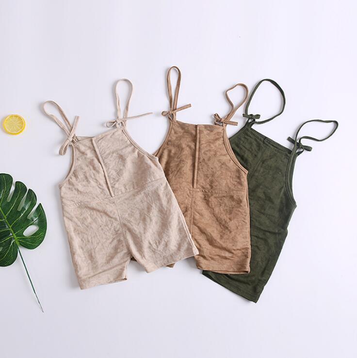 Mutter & Kinder Effizient 2019 Neue Baby Mädchen Jungen Overalls Sommer Mode Bogen Kinder Shorts 12-36 Monat Hy60