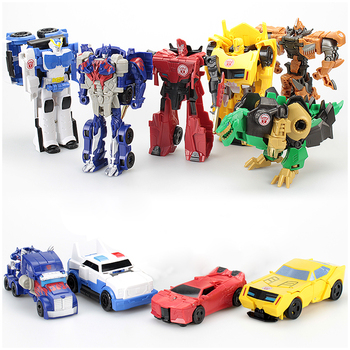 Kids Transformation Robot Car Anime Action Figure Toy Plastic Mini Education Deformation Robot Toys For Children Boys Girls Gift