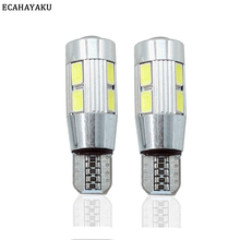 2PCS Car Styling Auto LED T10 194 W5W Canbus 10 SMD 5630 Light Bulb No Error Parking Side