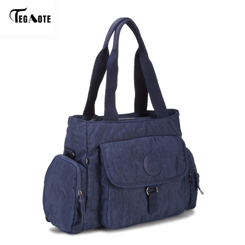 TEGAOTE Top-handle Women Handbag Big Capacity Shoulder Messenger Bag Women Designer Nylon Beach Casual Tote Female Shopping Bag