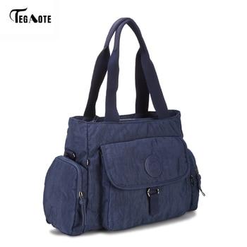 TEGAOTE Top-handle Women Handbag Big Capacity Shoulder Messenger Bag Women Designer Nylon Beach Casual Tote Female Shopping Bag Сумка