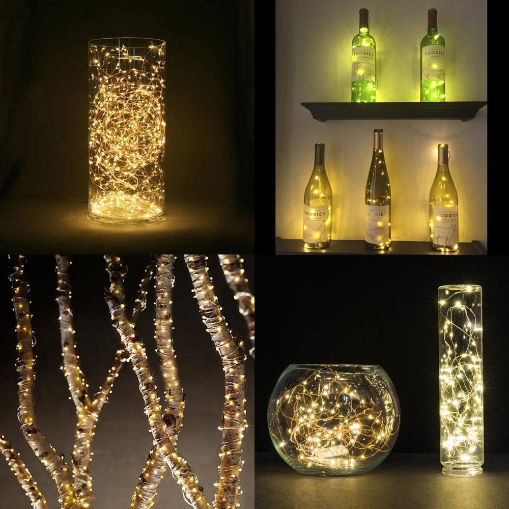 hight resolution of led garland table decor night light bedside lamp copper wire string fairy lights christmas wedding home decoration luminaria in led night lights from