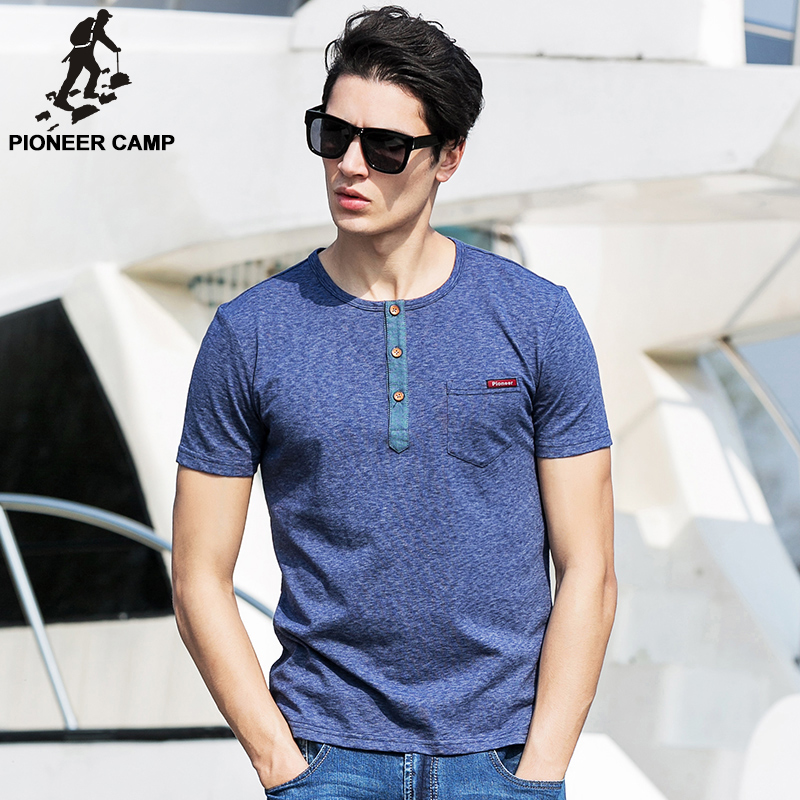 Pioneer Camp Men T Shirt New 2017 Cotton Simple Print: Pioneer Camp.2017 New Fashion Summer T Shirt Men Casual