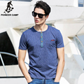 Pioneer Camp.2017 new fashion summer t-shirt men casual active men clothing short cotton tshirts print comfortable soft 622026