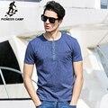 Pioneer camp.2017 nova moda verão t-shirt dos homens casuais ativos homens clothing curto camisetas de algodão de impressão macio e confortável 622026