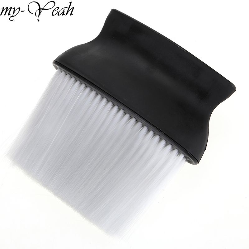 פרו שחור מברשת ניקוי רחבה סלון שיער מספרות צוואר פנים אבק מברשת נקיה למספרה כלי חיתוך שיער