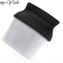 Pro Black Wide Cleaning Brush Hair Salon Hairdressing Neck Face Dust Clean Brush For Barber Hair Cutting Styling Tool
