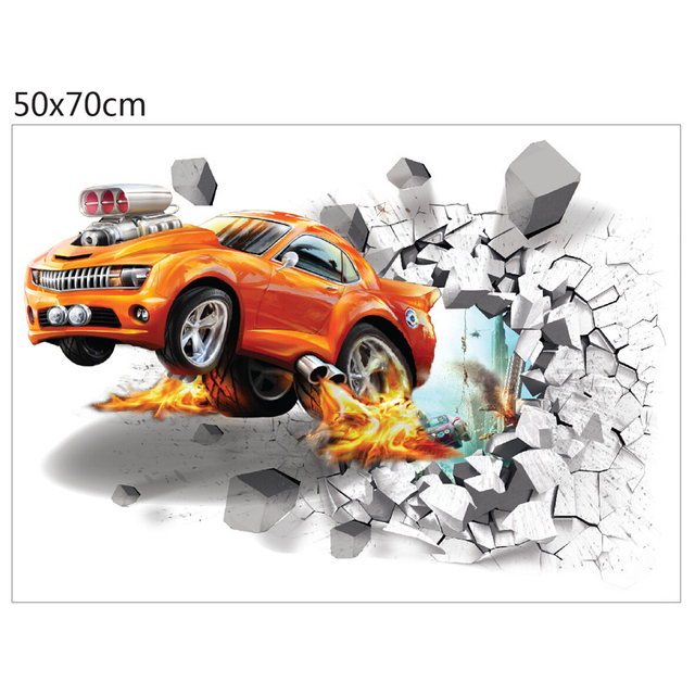 Broken Wall Car 50*70cm 10