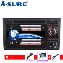 A-Sure 7'' Din Car Auto Radio GPS DVD Player Navigation For Audi A4 2002-2007 S4 RS4 With 3G GPS SWC RDS DAB+ USB Port Bluetooth
