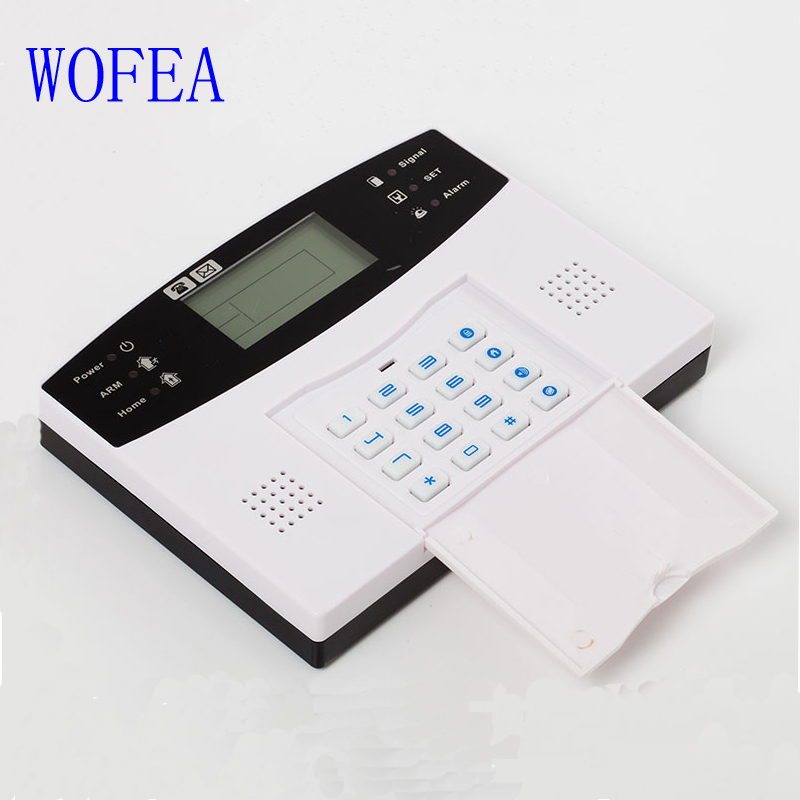 WOFEA Russian English Spanish France voice  Smart Home Security GSM Alarm System Remote Control by SMS & Calling with LCD keypad 19