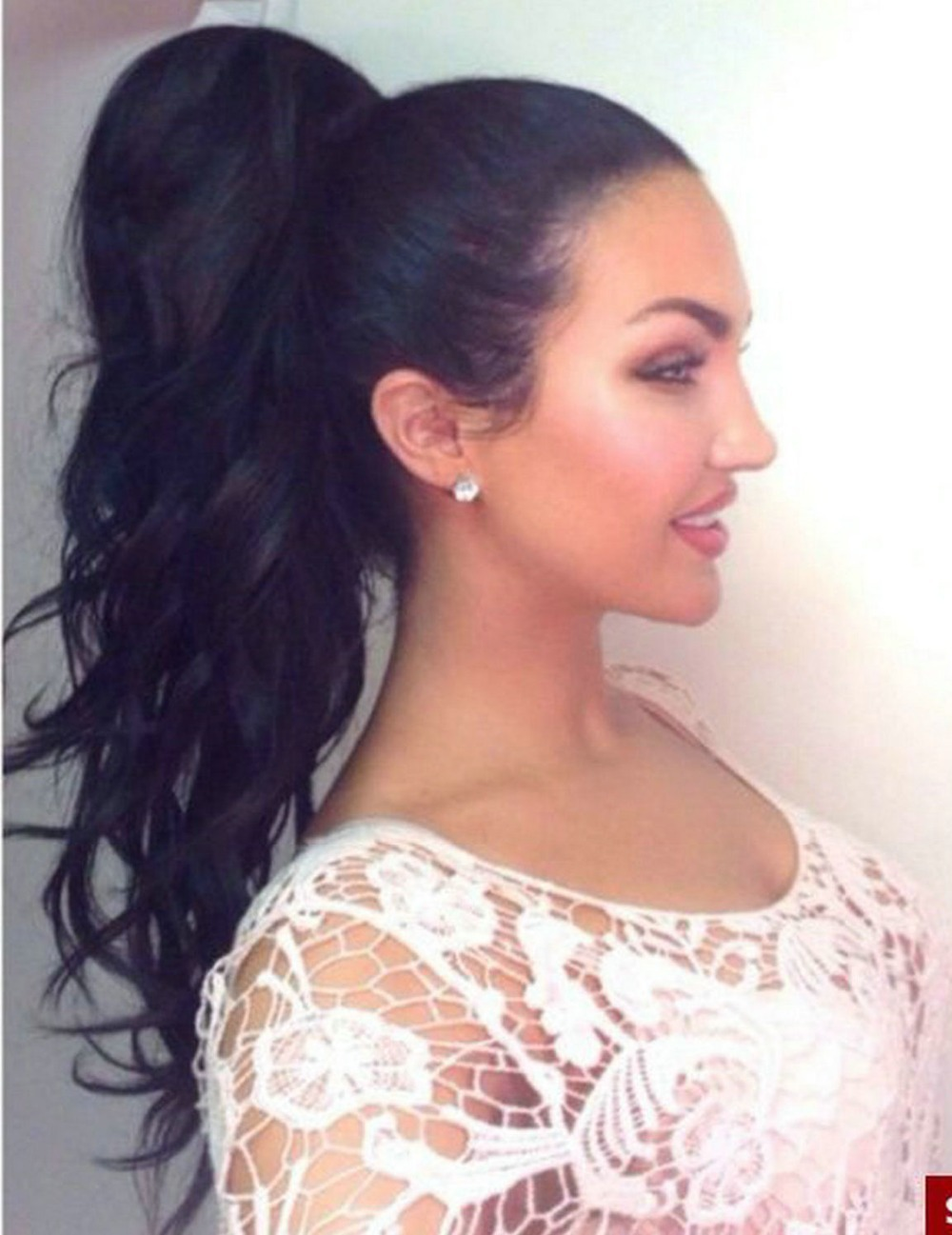 Fashion style Ponytail High hairstyles curly for woman