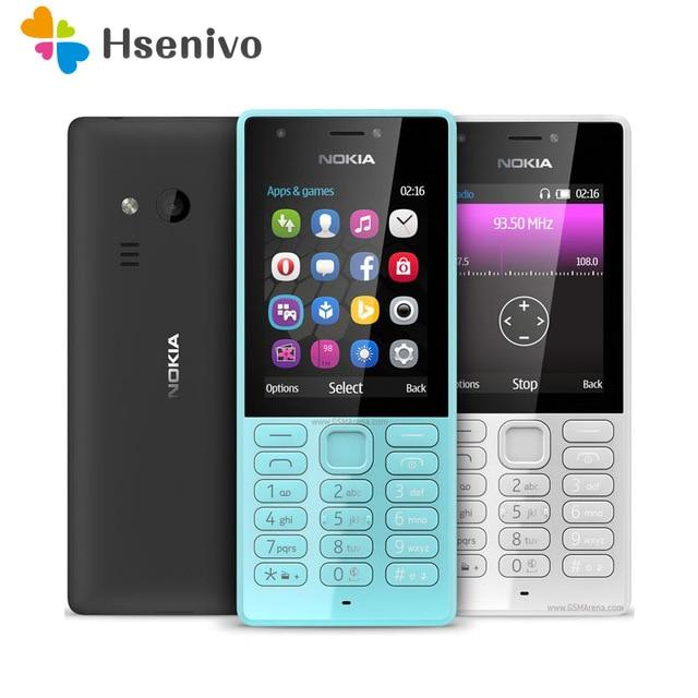 216 Dual Sim 100% Original Nokia 216 Dual sim Card 2G GSM 1100mAh Unlocked Cheap Celluar Phone refurbished Free shipping