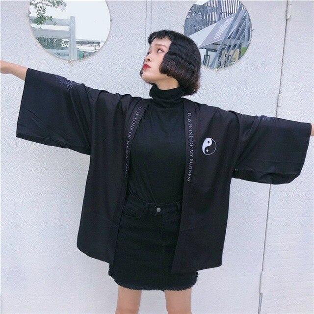 Women Sunscreen Shirts Kimono Cardigan Women Long Summer  Chiffon Print Kimono Mujer Kimonos Blouse Beach Harajuku 3