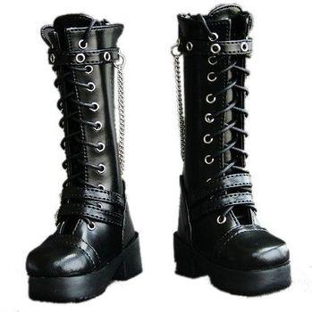 [ wamami ] 45# черный 1/4 MSD AOD DZ DOD бжд Dollfie кожаные сапоги / обувь
