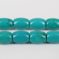 Natural Turquoise Beads Real Stone Tube Rice Beads Cylinder Beads DIY Jewelry Accessories